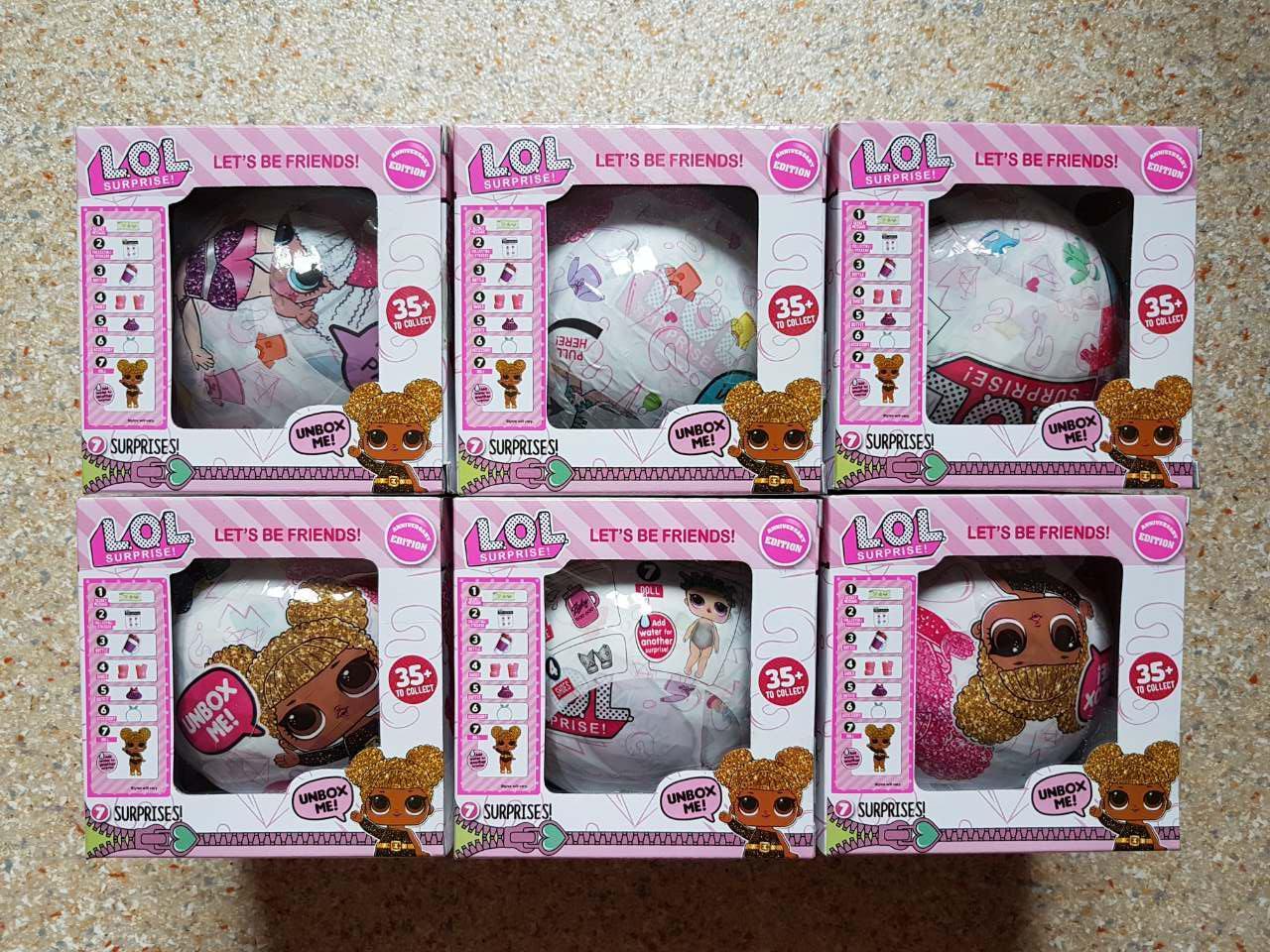 Набор кукол LOL Surprise Glitter 6 штук