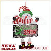 Декор новогодний Снеговик