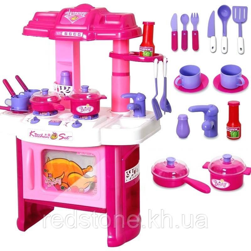 Кухня детская 008-26 (плита,духовка,мойка,посуда...)