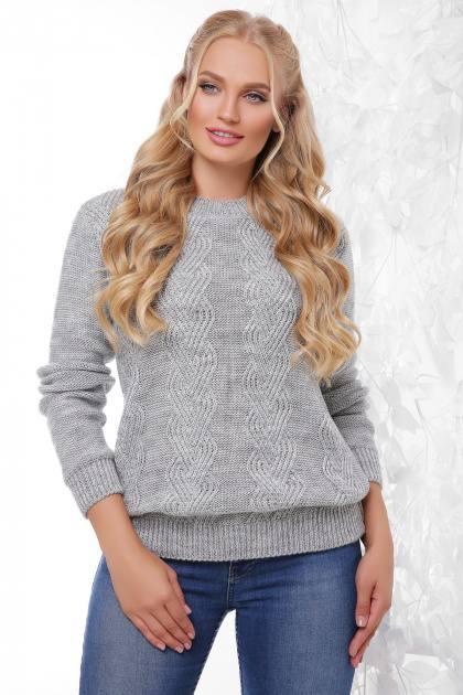 Вязаный свитер Инара темно-серый(48-54)