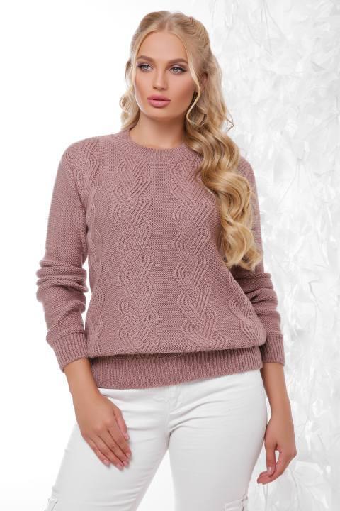 Вязаный свитер Инара фрез(48-54)