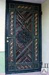 Входные металлисческие двери с элементами ковки