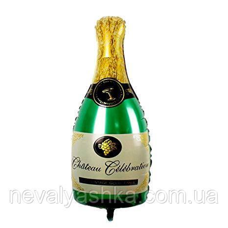 Шар Воздушный Фольгированный Шарик Надувной Фигура Бутылка шампанского 100см  Шары MK 1332, фото 1