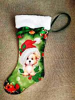 ЧХ-1. Пошитий новорічний чобіток з хутром, під вишивку