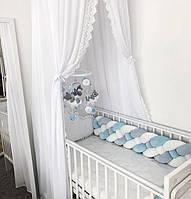 Бортик - коса в детскую кроватку 120/30 см