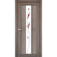 Двери Корфад PR-10 (стекло сатин белый+рисунок М1) модели - дуб беленый, венге, орех, дуб грей, дуб марсала
