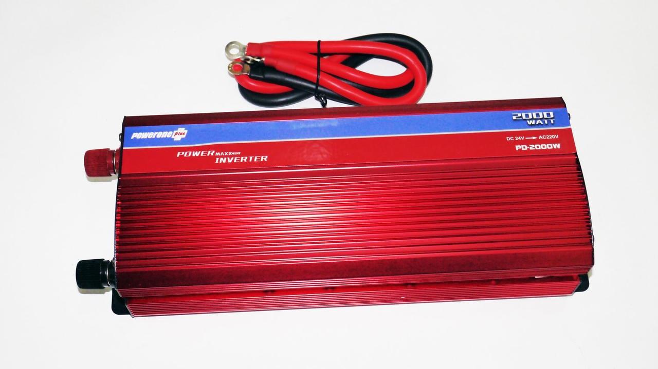 Преобразователь тока AC/DC Инвертор 2000W 24V с вольтметром
