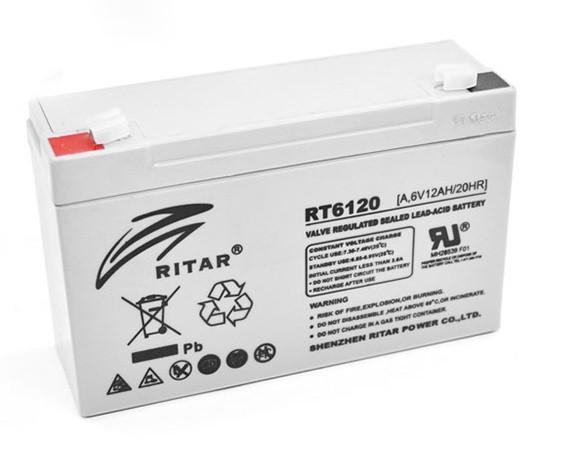 Аккумуляторная батарея AGM RITAR RT6120A, Gray Case, 6V 12Ah ( 150 х 50 х 93 (99) ) Q10