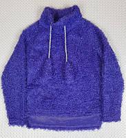 №204 Модный детский джемпер с бумбонами травка на девочку р. 110-128 фиолет, фото 1