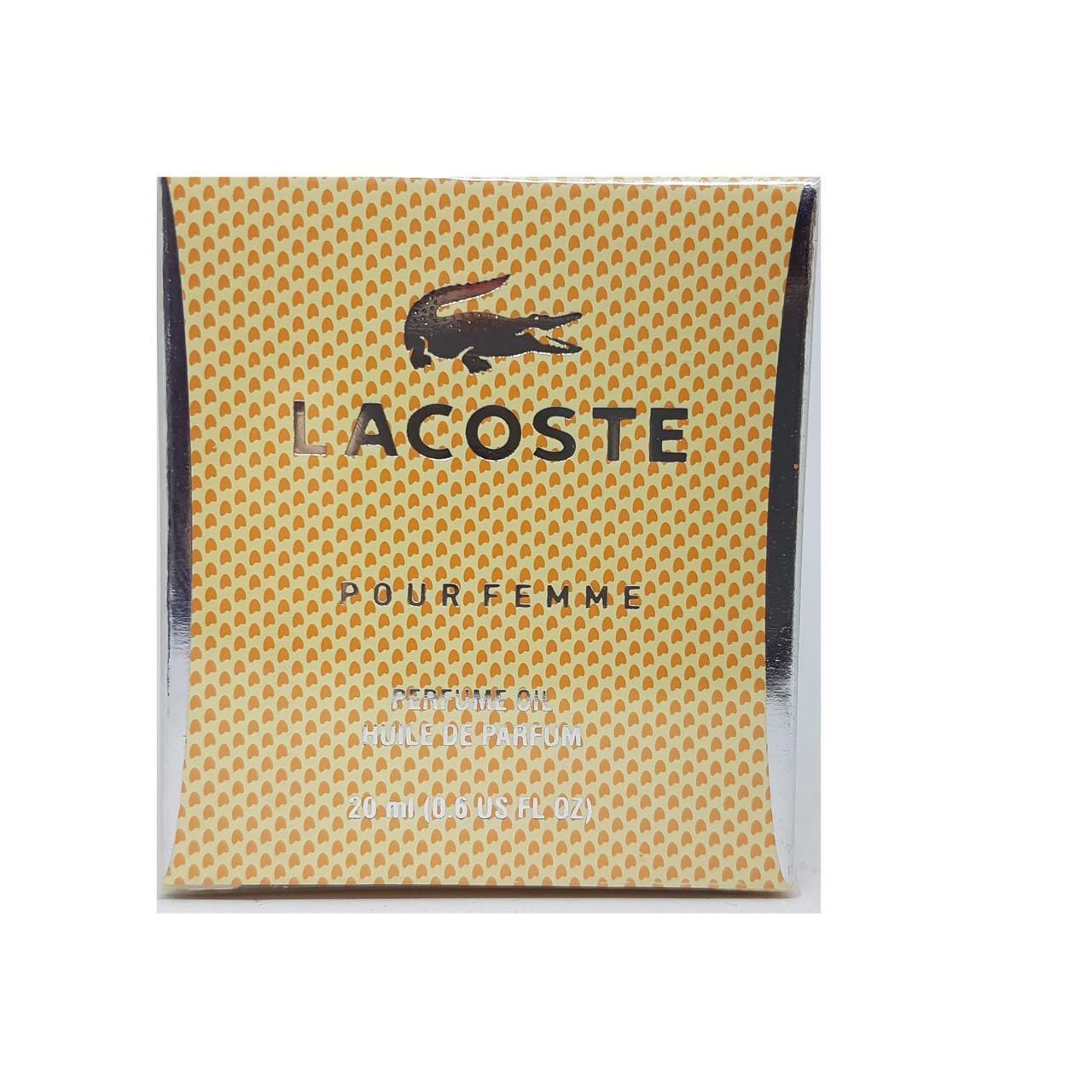 Lacoste pour femme - huile de parfum 20ml