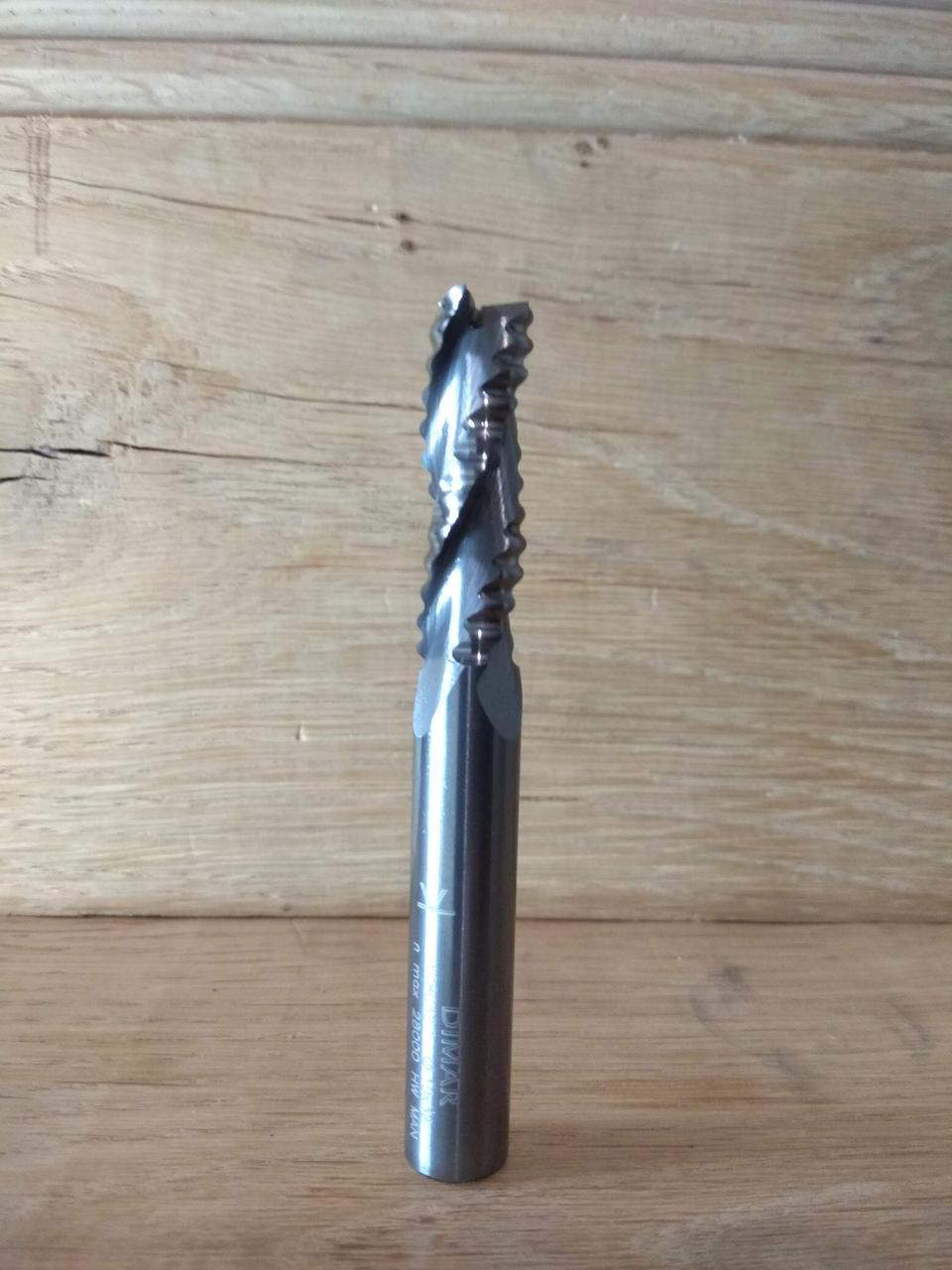 Фреза DIMAR спиральная для черновой обработки со стружколомом D=10 B=32 L=80 Z3