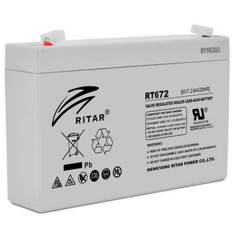Аккумуляторная батарея AGM RITAR RT672, Gray Case, 6V 7.2Ah ( 151х34х94 (100) ) Q20