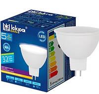 Лампа светодиодная низковольтная MR16, 7W, 4000K, GU5.3, 60 Lm/W