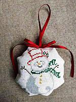 ШНЛ-016. Пошита новорічна іграшка для вишивки бісером