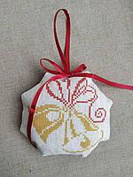 ШНЛ-017. Пошита новорічна іграшка для вишивки бісером