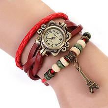 Винтажные часы-браслет красные