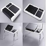 E-TABLE підставка столик для ноутбука з охолодженням, фото 3