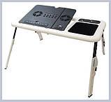 E-TABLE підставка столик для ноутбука з охолодженням, фото 5