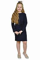 """Платье  для девочки с рукавом   М -1113 рост 128 134 140 146 152 158 164 170 трикотаж тм """"Попелюшка"""", фото 1"""