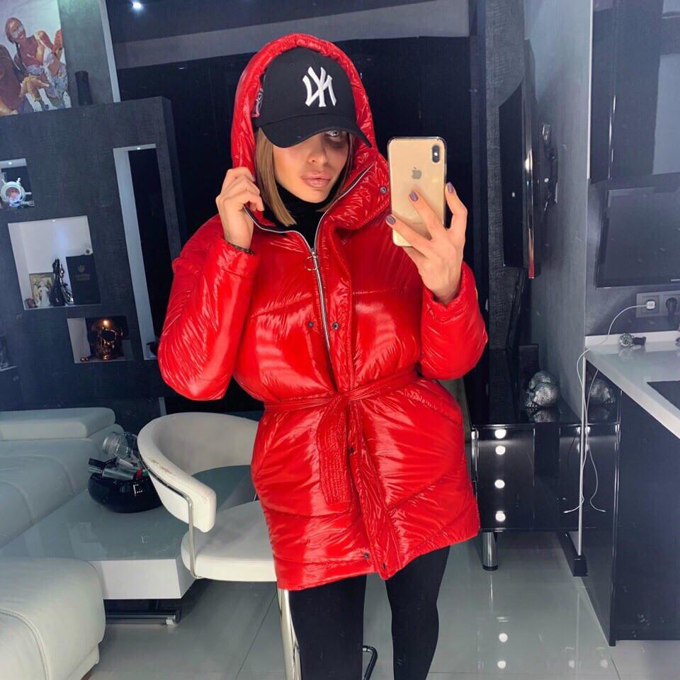Металлизированная женская куртка с отстегивающимися рукавами 18kr165