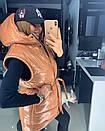 Металлизированная женская куртка с отстегивающимися рукавами 18kr165, фото 2