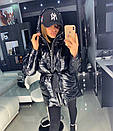 Металлизированная женская куртка с отстегивающимися рукавами 18kr165, фото 3