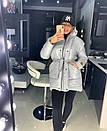 Металлизированная женская куртка с отстегивающимися рукавами 18kr165, фото 5