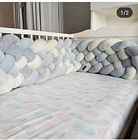 Бортик - коса в детскую кроватку 240/30 см