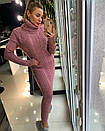 Длинное вязаное платье с высокой горловиной 18py2068, фото 2