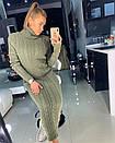 Длинное вязаное платье с высокой горловиной 18py2068, фото 3