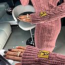 Длинное вязаное платье с высокой горловиной 18py2068, фото 5