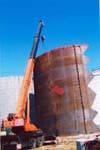 Монтаж резервуаров РВС-1000куб.м - 4шт. Строительство нефтебазы объемом 4000куб.м на территории ТЭЦ-6, г. Киев