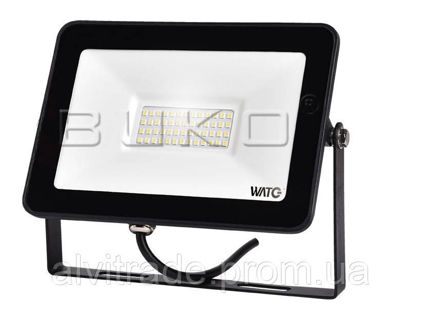 WATC ПРОЖЕКТОР LED 50W 4000LM 6400K SMD ЧЕРНЫЙ IP65 205*30*160MM