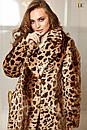 Шуба в леопардовый принт из искусственного меха 31sb41, фото 4