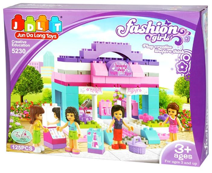 """Конструктор для девочек JDLT 5230 (Аналог Лего) """"Модный дом"""", 125 дет."""