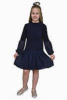 Платье  детское с длинным рукавом   М -1112  рост 128 134 140 146 152 158 164 170трикотажное, фото 1