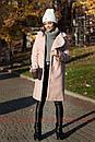 Женское теплое Пальто из экомеха 71pt158, фото 2