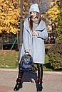 Женское теплое Пальто из экомеха 71pt158, фото 5