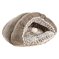 Мягкий домик-карман для кошек и собак TUFLI FERPLAST Ферпласт х/б+мех 48*39*24