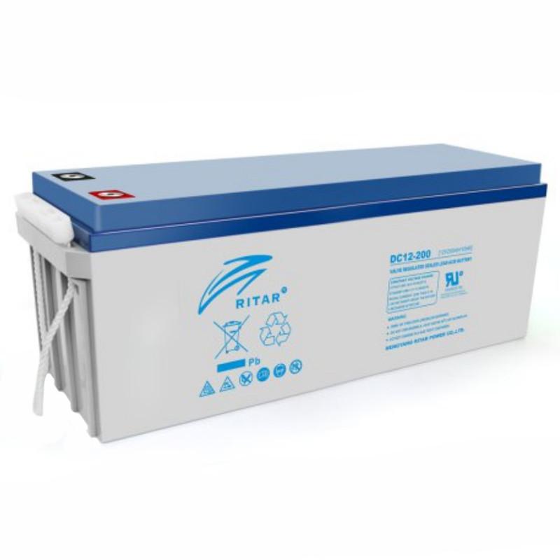 Аккумуляторная батарея AGM RITAR DC12-200, Gray Case, 12V 200Ah ( 522 х 240 х 219 (224) ) Q1