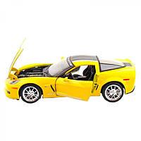 Автомодель Maisto (1:24) 2009 Chevrolet Corvette Z06 GT1 жёлтый (27683) (27683)