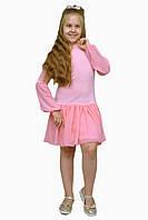 Платье  детское с длинным рукавом   М -1112  рост 128 134 140 146 152 158 164 170 трикотажное, фото 1