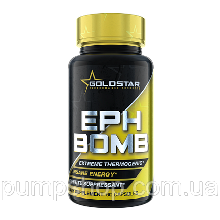 Жиросжигатель GoldStar EPH Bomb (50 mg Ephedra + DMAA)  60 капс., фото 2