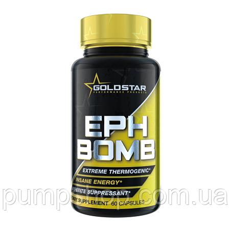 Жиросжигатель GoldStar EPH Bomb (50 mg Ephedra + DMAA)  60 капс.