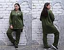 Спортивный женский костюм в больших размерах с удлиненной кофтой 6ba1185, фото 3