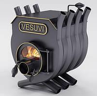 Булерьян, отопительная печь «VESUVI» с варочной поверхностью+стекло «02» 18 кВт-450 М3
