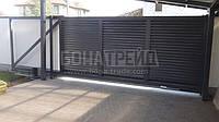 Откатные ворота с зашивкой жалюзи BonaFence 1500, Откатные, 3000