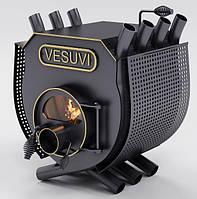 Булерьян, отопительная печь «VESUVI» с варочной поверхностью+стекло+префорация «02» 18 кВт-450 М3
