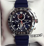 Seiko Solar Chronograph World Time-SSC489P1, фото 1