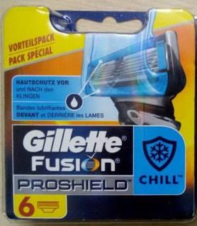 Сменные кассеты Gillette Fusion ProShield Chill Oriqinal 6 шт. G0036